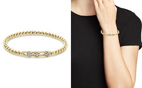Hulchi Belluni 18K Yellow Gold Tresore Diamond Triple Station Stretch Bracelet - Bloomingdale's_2