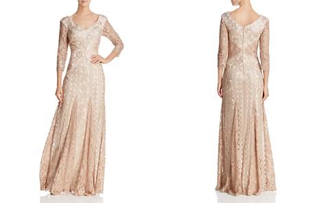 Tadashi Shoji Three-Quarter Sleeve Sequin Lace Gown - Bloomingdale's_2