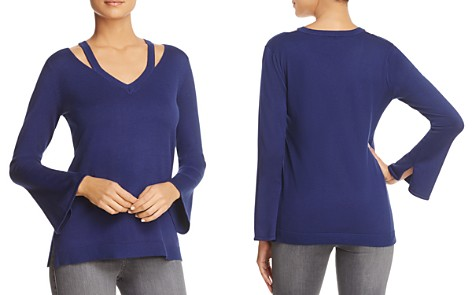 Love Scarlett Cutout Shoulder Bell Sleeve Sweater - Bloomingdale's_2