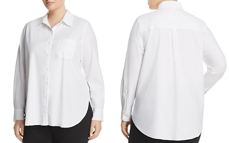 Lyssé Plus Schiffer Pocketed Pleated-Back Button-Down Shirt - Bloomingdale's_2