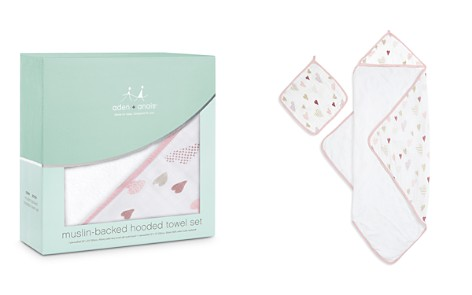 Aden and Anais Heart Breaker Hooded Towel & Washcloth Set - Bloomingdale's_2