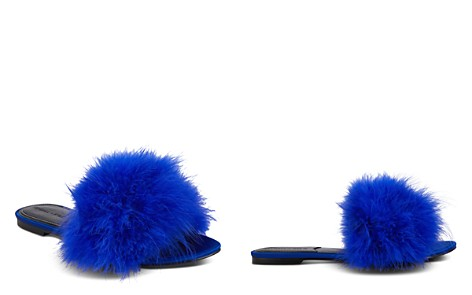 KENDALL and KYLIE Women's Chloe Feathered Slide Sandals - Bloomingdale's_2