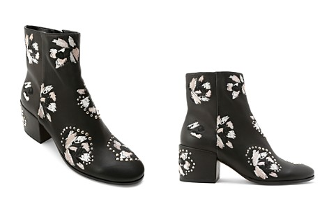 Dolce Vita Women's Mollie Embroidered Leather Block Heel Booties - Bloomingdale's_2