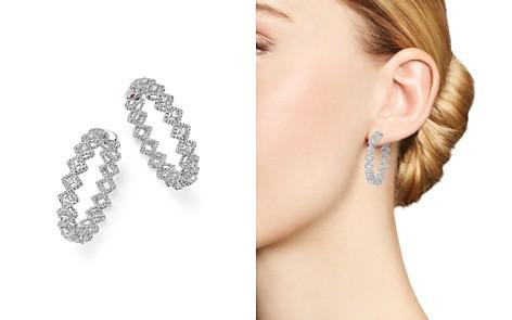 Roberto Coin 18K White Gold New Barocco Diamond Hoop Earrings - Bloomingdale's_2