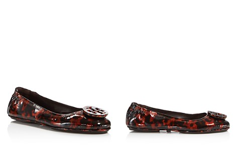 Tory Burch Women's Minnie Tortoise Print Patent Leather Travel Ballet Flats - Bloomingdale's_2