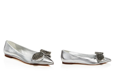 Tory Burch Women's Rosalind Embellished Metallic Leather Flats - Bloomingdale's_2
