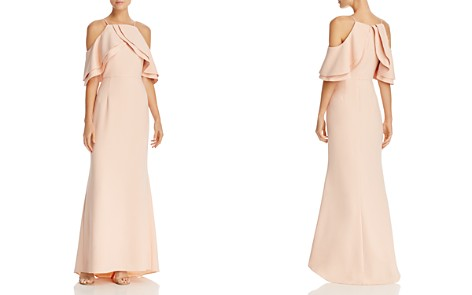 Eliza J Double-Ruffle Cold-Shoulder Gown - Bloomingdale's_2