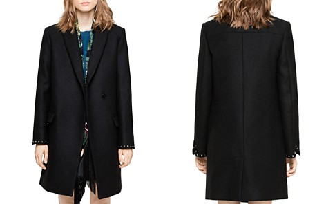 Zadig & Voltaire Marco Studded-Cuff Coat - Bloomingdale's_2