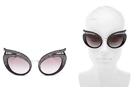 Miu Miu Embellished Cat Eye Sunglasses, 55mm - Bloomingdale's_2