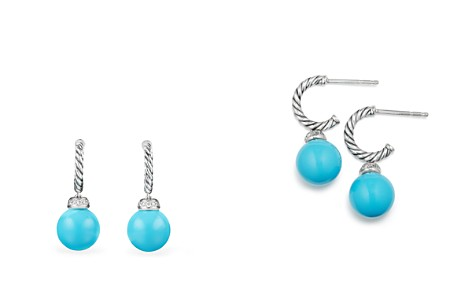 David Yurman Solari Drop Earrings with Diamonds & Reconstituted Turquoise - Bloomingdale's_2