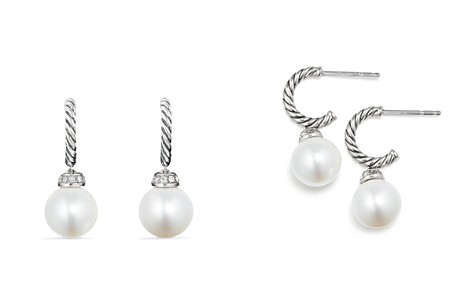 David Yurman Solari Drop Earrings With Diamonds Cultured Freshwater Pearls Bloomingdale S 2