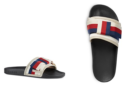 Gucci Women's Web Bow Satin Slides	- Bloomingdale's_2
