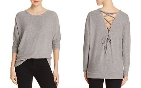 CHASER Lace-Up Back Sweater - Bloomingdale's_2