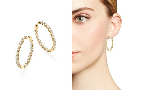 Bloomingdale's Own Diamond Inside-Out Hoop Earrings in 14K Yellow Gold, 3.0 ct. t.w. - 100% Exclusive _2