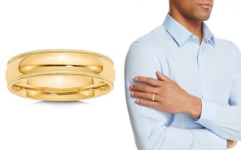 Bloomingdale's Men's 6mm Milgrain Comfort Fit Wedding Band in 14K Yellow Gold - 100% Exclusive_2
