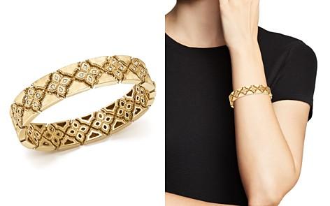 Roberto Coin 18K Yellow Gold Venetian Princess Diamond Bangle - Bloomingdale's_2