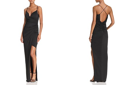 Bariano Draped Faux-Wrap Gown - 100% Exclusive - Bloomingdale's_2