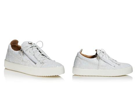 Giuseppe Zanotti Women's Glitter Leather May London Lace Up Sneakers - Bloomingdale's_2