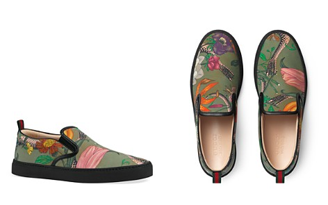 Gucci Men's Snake Print Slip-On Sneakers - Bloomingdale's_2