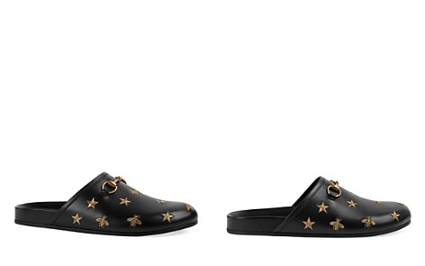 Gucci Men's Embroidered Bees and Stars Slides - Bloomingdale's_2