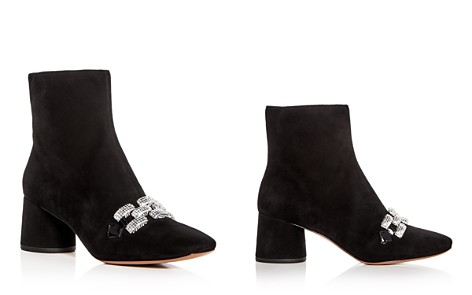 MARC JACOBS Women's Embellished Chain Suede Block Heel Booties - Bloomingdale's_2