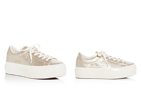 Converse Women's One Star Leather Lace Up Platform Sneakers - Bloomingdale's_2