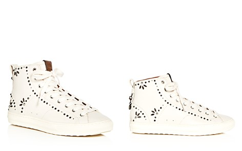 COACH Women's Prairie Rivet Embellished Leather High Top Sneakers - Bloomingdale's_2