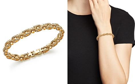 Bloomingdale's Textured Link Bracelet in 14K Yellow Gold - 100% Exclusive_2