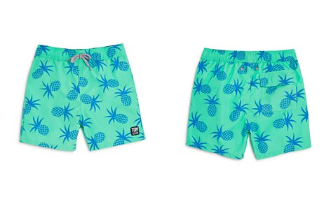 TOM & TEDDY Boys' Pineapple Print Swim Trunks - Big Kid - Bloomingdale's_2