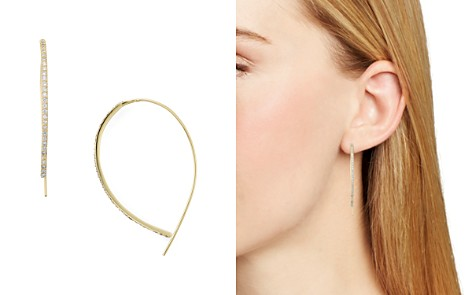 AQUA Sterling Silver Threader Hoop Earrings - 100% Exclusive - Bloomingdale's_2