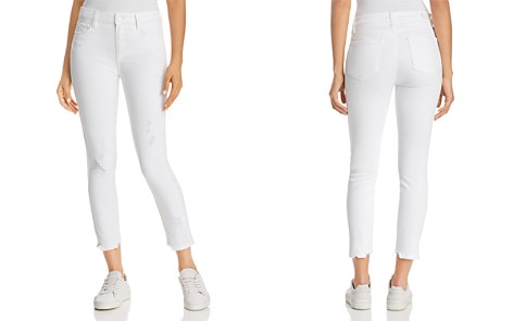 PAIGE Hoxton Ankle Skinny Jeans in Crisp White Destructed - Bloomingdale's_2