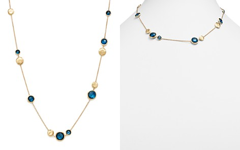 """Marco Bicego 18K Yellow Gold Jaipur London Blue Topaz Collar Necklace, 16"""" - Bloomingdale's_2"""