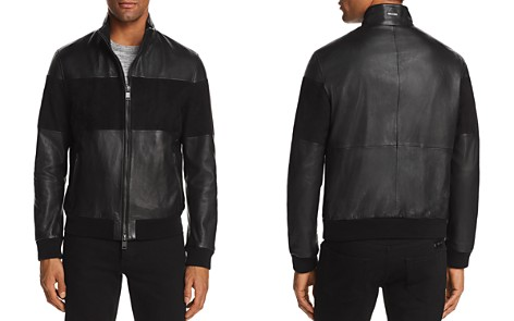 BOSS Miloy Leather and Suede Moto Jacket - Bloomingdale's_2