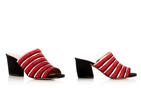 Botkier Women's Posie Suede Stripe High Heel Slide Sandals - Bloomingdale's_2