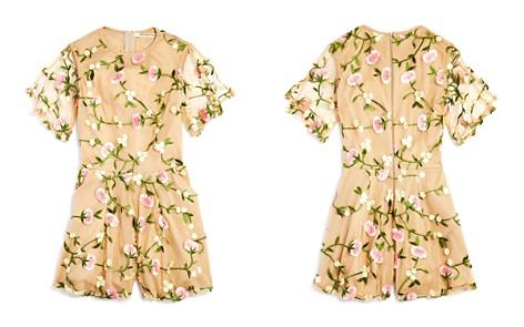 Miss Behave Girls' Mesh Floral Romper - Big Kid - Bloomingdale's_2