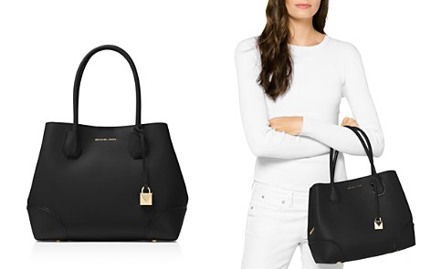 MICHAEL Michael Kors Mercer Gallery Snap Medium Leather Tote - Bloomingdale's_2