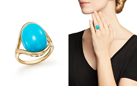 Bloomingdale's Turquoise Statement Ring in 14K Yellow Gold - 100% Exclusive _2