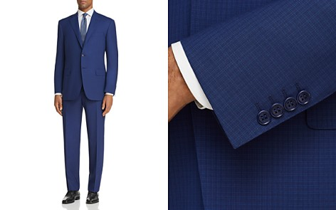Canali Grid Check Regular Fit Suit - 100% Exclusive - Bloomingdale's_2