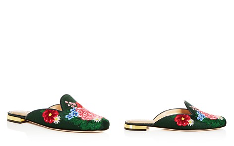 Charlotte Olympia Women's Rose Garden Embroidered Mules - Bloomingdale's_2