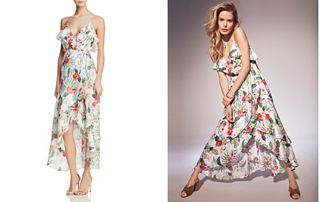 Bardot Ruffled Tropical Faux-Wrap Dress - 100% Exclusive - Bloomingdale's_2