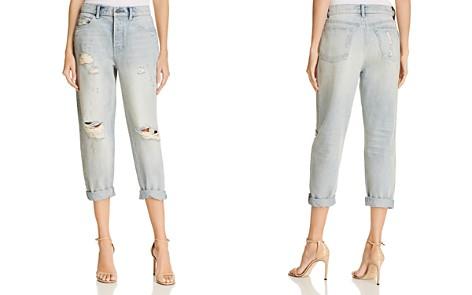 T by Alexander Wang Slack Distressed Cuffed Boyfriend Jeans in Vintage Bleach - Bloomingdale's_2