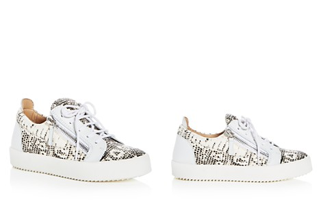 Giuseppe Zanotti Women's May London Snake Embossed Leather Platform Lace Up Sneakers - Bloomingdale's_2