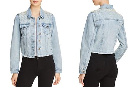 Sunset + Spring Embellished Frayed Denim Jacket - 100% Exclusive - Bloomingdale's_2
