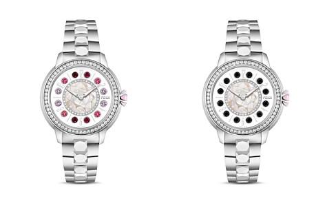 Fendi IShine Diamond & Rotating Gemstones Watch, 33mm - Bloomingdale's_2