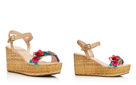 kate spade new york Women's Tinsley Leather & Floral Appliqué Platform Wedge Sandals - 100% Exclusive - Bloomingdale's_2