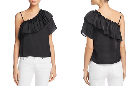 MISA Los Angeles Bessie Asymmetric Ruffle Top - Bloomingdale's_2
