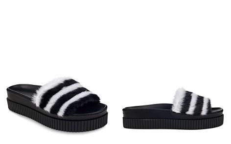 KENDALL and KYLIE Women's Isla Faux-Fur Platform Slide Sandals - Bloomingdale's_2
