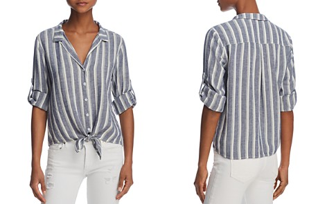 Bella Dahl Striped Tie-Front Button-Down Shirt - 100% Exclusive - Bloomingdale's_2