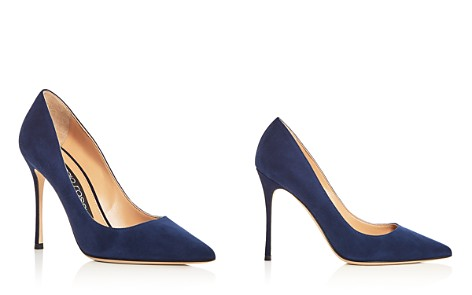Sergio Rossi Women's Godiva Suede Pointed Toe Pumps - Bloomingdale's_2