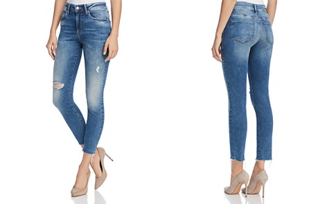 Mavi Alissa Ankle High Rise Super Skinny Jeans in Shaded Random Nolita - Bloomingdale's_2